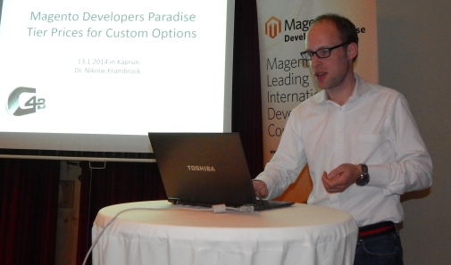 Presentation of Dr. Nikolai Krambrock at Developers Paradise